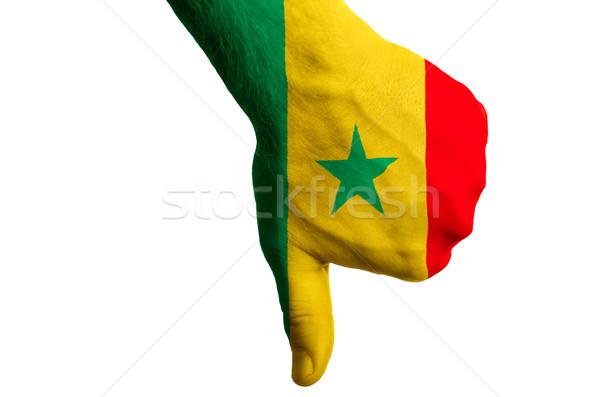 セネガル フラグ 親指 ダウン ジェスチャー 失敗 ストックフォト © vepar5
