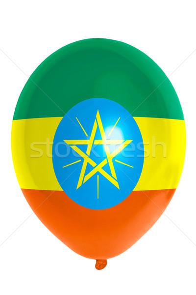 шаре флаг Эфиопия счастливым путешествия Сток-фото © vepar5