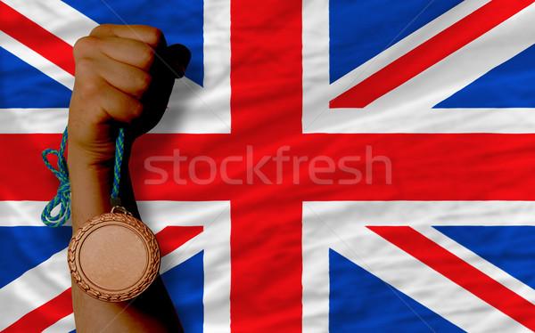 Bronce medalla deporte bandera Reino Unido Foto stock © vepar5