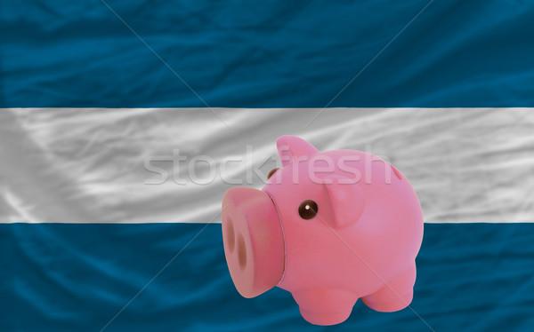 piggy rich bank and  national flag of el salvador    Stock photo © vepar5