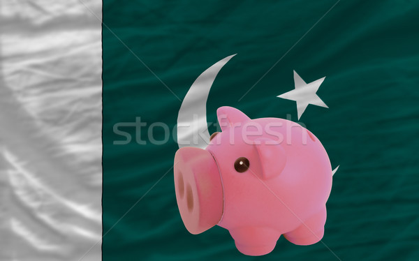 piggy rich bank and  national flag of pakistan    Stock photo © vepar5