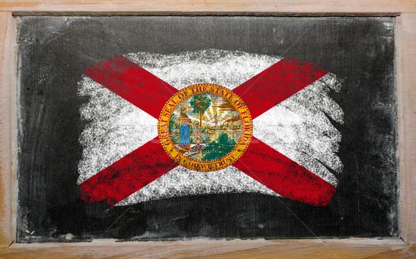 フラグ フロリダ 黒板 描いた チョーク アメリカン ストックフォト © vepar5