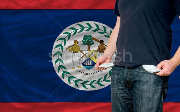 Recessie jonge man samenleving Belize arme man Stockfoto © vepar5