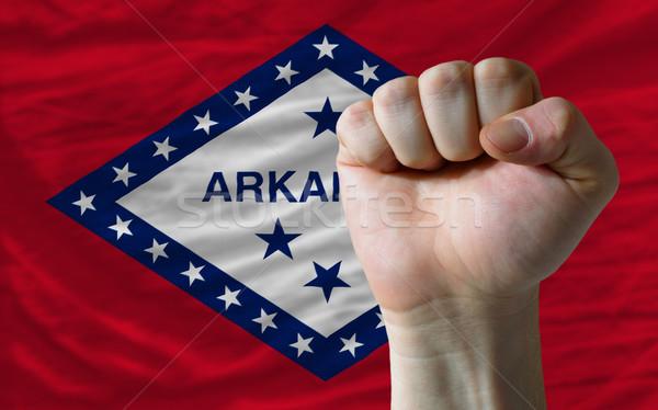 Zászló Arkansas ököl teljes amerikai egész Stock fotó © vepar5