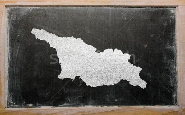 Contorno mappa Georgia lavagna disegno Foto d'archivio © vepar5