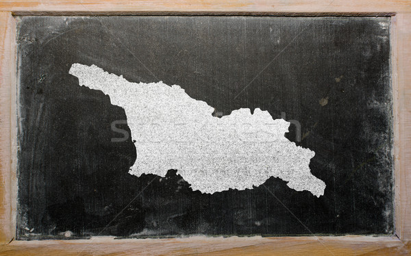 карта Грузия доске рисунок Сток-фото © vepar5