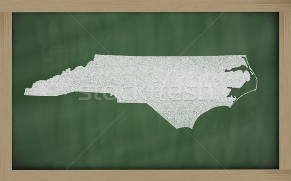 outline map of north carolina on blackboard  Stock photo © vepar5