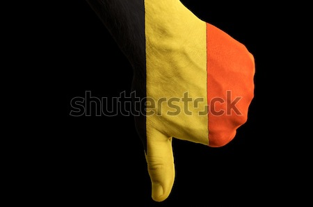Moldávia bandeira para baixo gesto falha Foto stock © vepar5