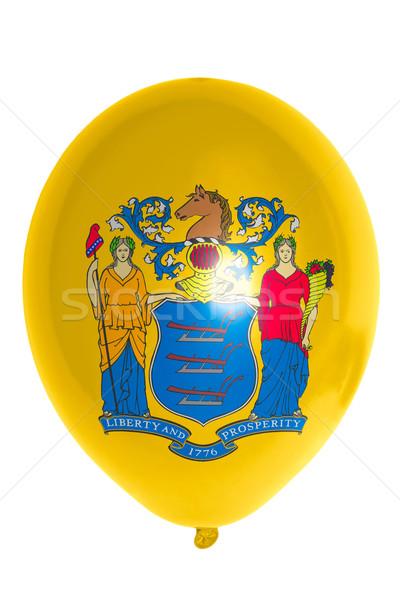 Ballon pavillon New Jersey heureux Photo stock © vepar5