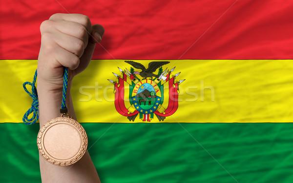 Bronz érem sport zászló Bolívia tart Stock fotó © vepar5