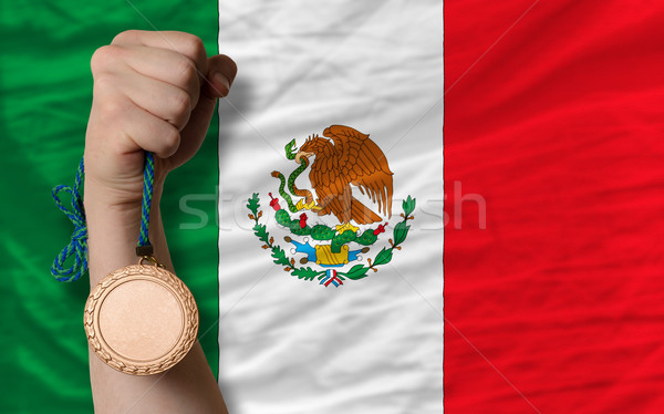 Bronze medal for sport and  national flag of mexico    Stock photo © vepar5