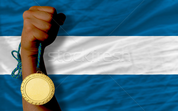 金メダル スポーツ フラグ エルサルバドル 勝者 ストックフォト © vepar5