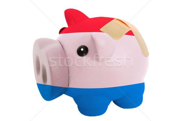 Zamknięte bogate banku bandaż kolory Zdjęcia stock © vepar5