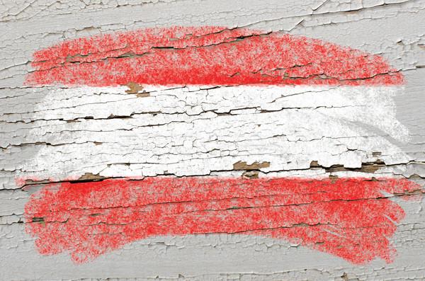 Bandera Austria grunge textura pintado Foto stock © vepar5