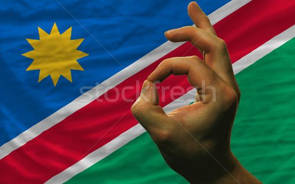 Neden jest Namibya bayrak adam Stok fotoğraf © vepar5