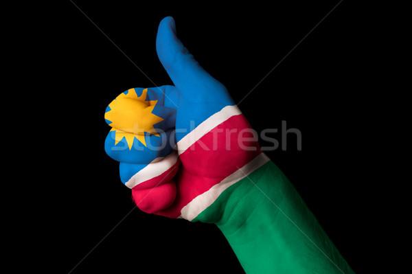 Намибия флаг большой палец руки вверх жест превосходство Сток-фото © vepar5