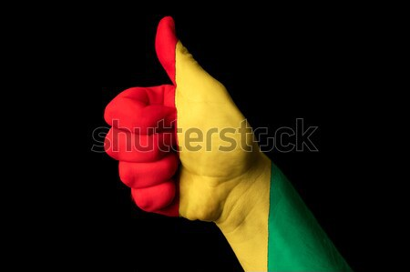 vatican national flag thumb up gesture for excellence and achiev Stock photo © vepar5