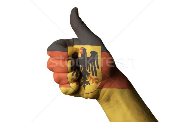 ドイツ フラグ 親指 アップ ジェスチャー 卓越 ストックフォト © vepar5