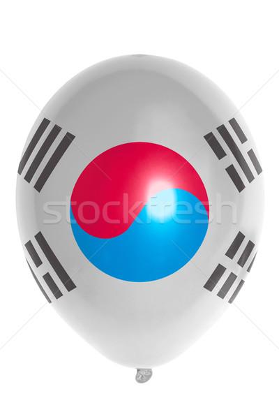 Globo bandera Corea del Sur feliz viaje Foto stock © vepar5