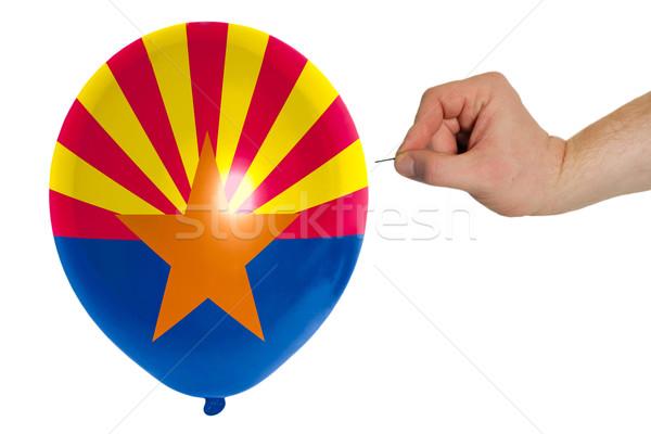 Léggömb színes zászló amerikai Arizona politika Stock fotó © vepar5