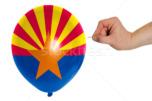 Stock foto: Ballon · Flagge · Arizona · Politik