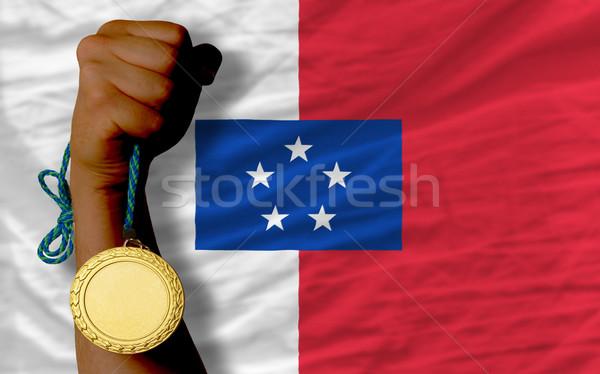 金メダル スポーツ フラグ 勝者 サッカー ストックフォト © vepar5