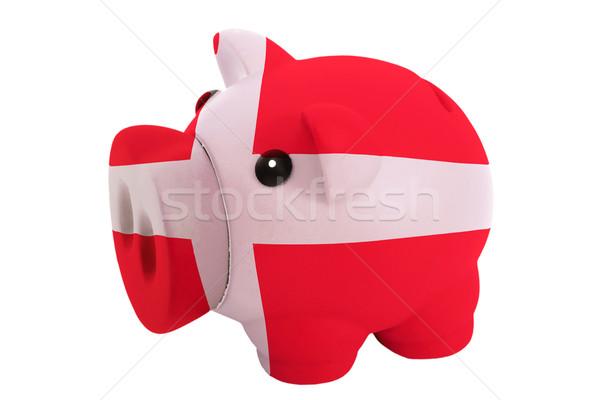 Rijke bank kleuren vlag Denemarken Stockfoto © vepar5