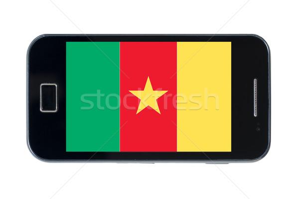 Bandeira Camarões telefone internet telefone Foto stock © vepar5