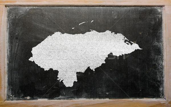 Mapa Honduras lousa desenho Foto stock © vepar5