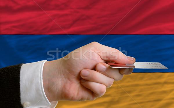Compra cartão de crédito Armênia homem fora Foto stock © vepar5