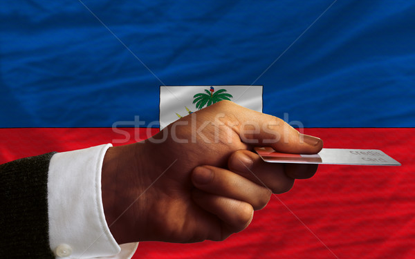 buying with credit card in haiti Stock photo © vepar5