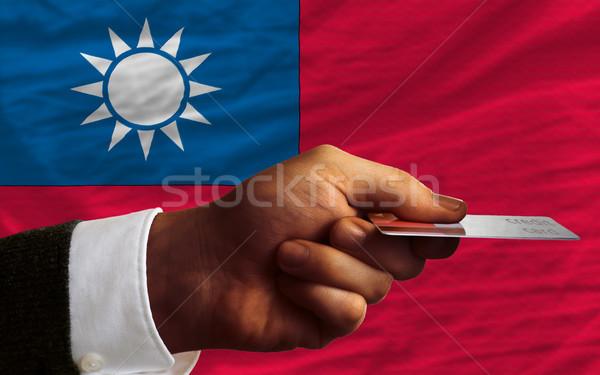 Satın alma kredi kartı Tayvan adam dışarı Stok fotoğraf © vepar5