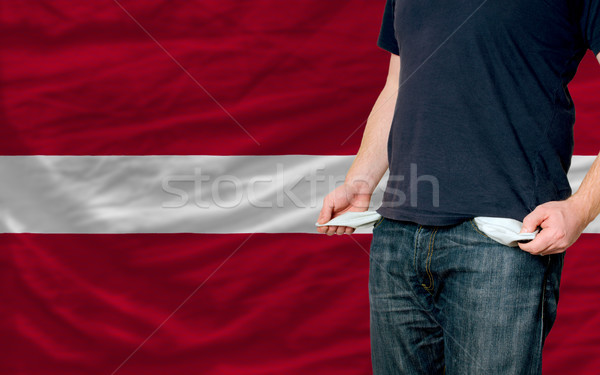 recession impact on young man and society in latvia Stock photo © vepar5