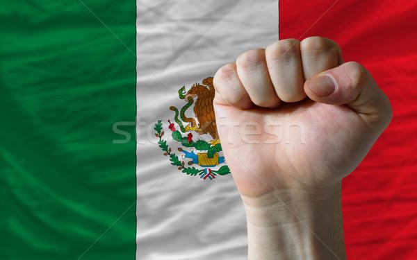 кулаком Мексика флаг власти полный все Сток-фото © vepar5