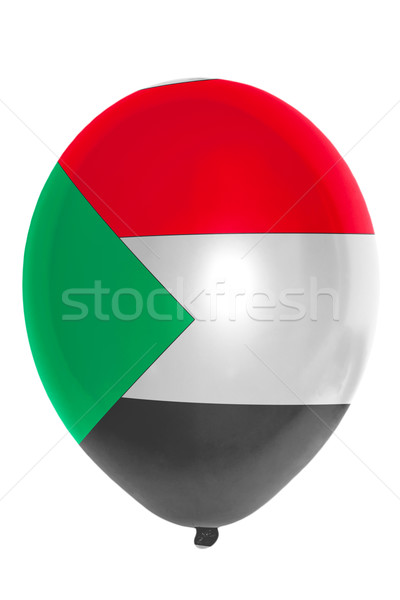 Ballon gekleurd vlag Soedan gelukkig reizen Stockfoto © vepar5