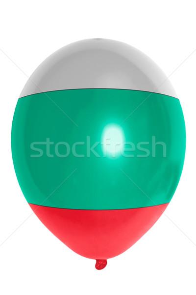 Ballon gekleurd vlag Bulgarije gelukkig achtergrond Stockfoto © vepar5