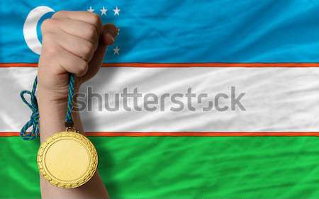 Gold medal for sport and  flag of american state of california   Stock photo © vepar5