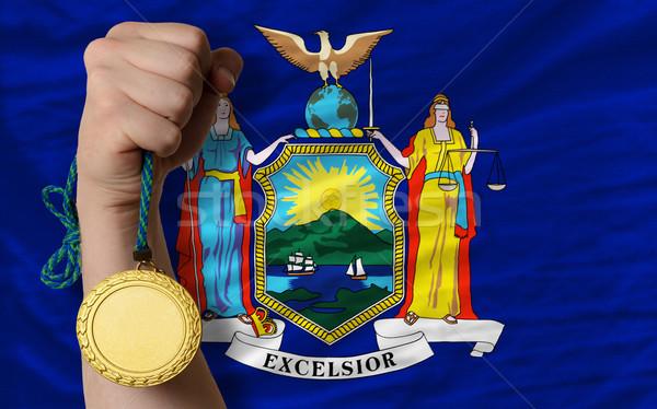 金メダル スポーツ フラグ アメリカン ニューヨーク 勝者 ストックフォト © vepar5