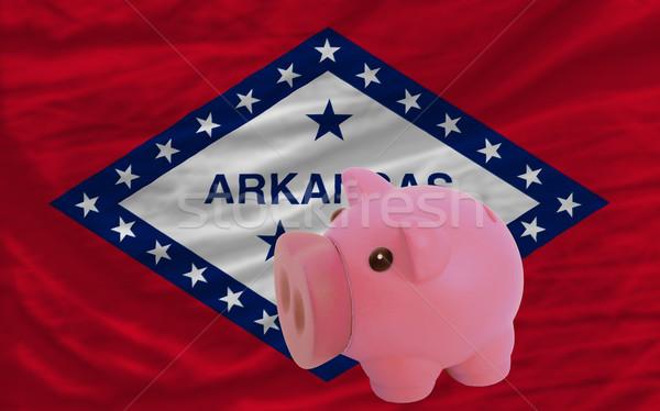 Ricos banco bandera americano Arkansas Foto stock © vepar5
