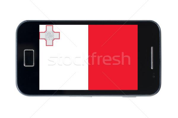 Stockfoto: Smartphone · vlag · Malta · telefoon · telefoon · mobiele