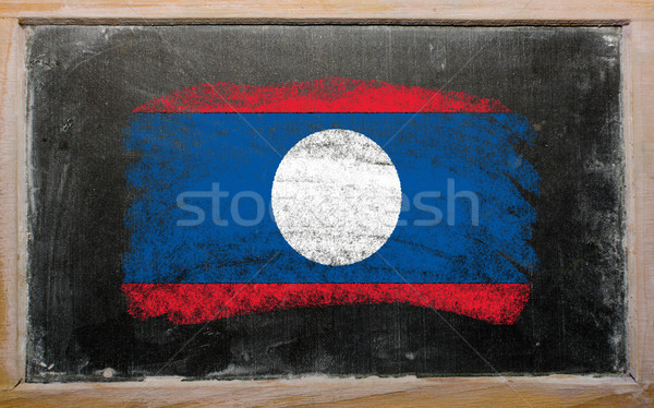 Banderą Laos tablicy malowany kredy kolor Zdjęcia stock © vepar5