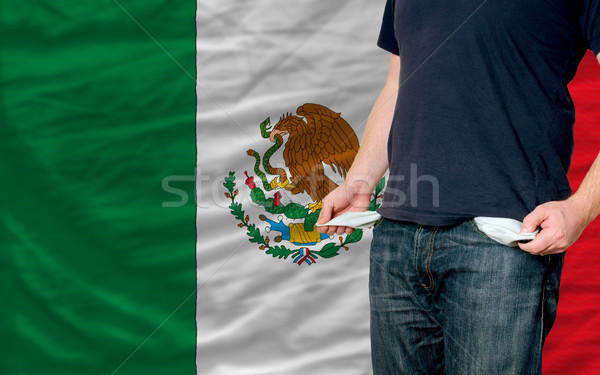recession impact on young man and society in mexico Stock photo © vepar5