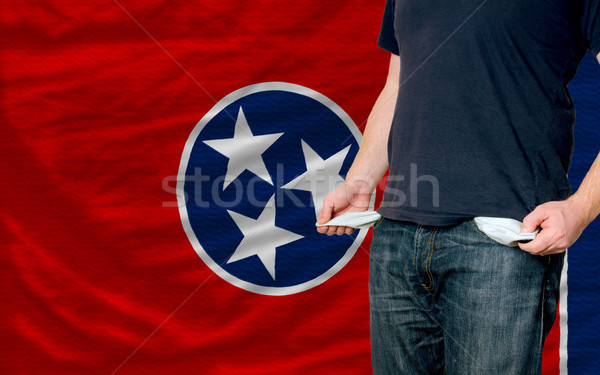 recession impact on young man and society in american state of s Stock photo © vepar5