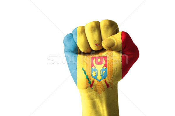 ököl festett színek Moldova zászló alacsony Stock fotó © vepar5
