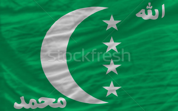 complete waved national flag of  of comoros for background   Stock photo © vepar5