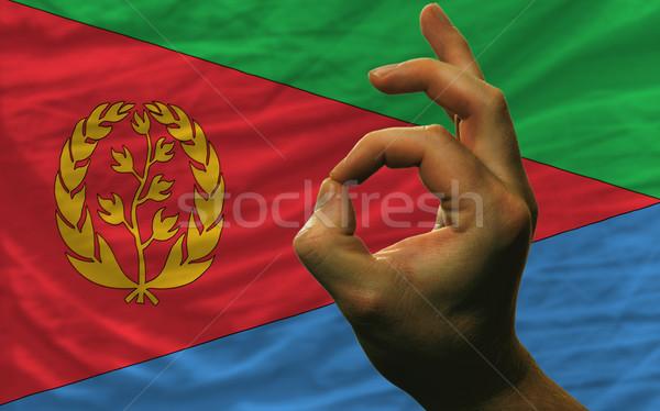 вызывать жест Эритрея флаг человека Сток-фото © vepar5
