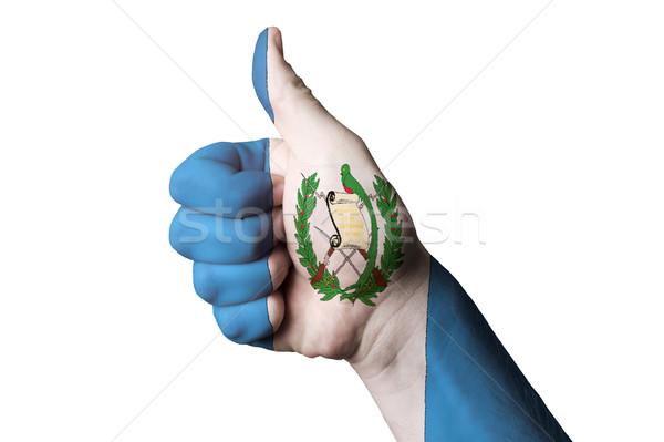 Гватемала флаг большой палец руки вверх жест превосходство Сток-фото © vepar5