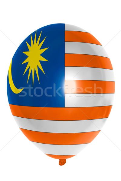 Ballon gekleurd vlag Maleisië gelukkig reizen Stockfoto © vepar5