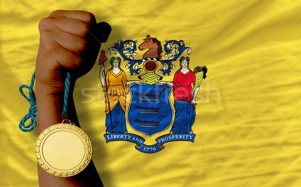 спорт флаг американский Нью-Джерси победителем Сток-фото © vepar5