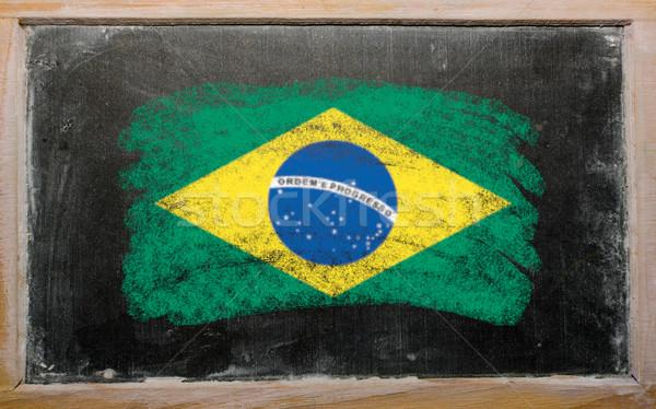 flag of Brazil on blackboard painted with chalk   Stock photo © vepar5
